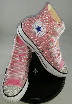 Items similar to Wedding Converse- Bridal Sneakers- Bling & Pearls Custom Converse Sneakers- Bridal Chuck Taylors- Wedding Sneakers- Converse hochzeit- Bride on Etsy Converse All Star, Cute Converse, Bling Converse, Bling Shoes, Converse Sneakers, Prom Shoes, Sneakers Women, Glitter Shoes, Wedding Sneakers