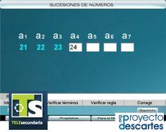PROYECTO TELESECUNDARIA. Sucesiones. Que los alumnos analicen y completen diferentes sucesiones numéricas y deduzcan expresiones generales que definan las reglas que las generan.
