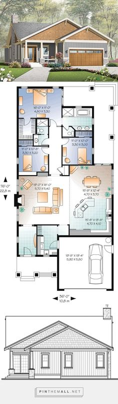 House Plan 76293 at FamilyHomePlans.com - created via https://pinthemall.net