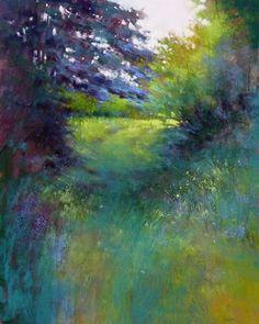 PEINTURES BARBARA BENEDETTI NEWTONLong Time Passing   pastel   20 x 16 pouces