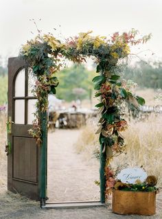 this would be beautiful for an outdoor ceremony... have dad on the guest side and opent he door for me to walk through.