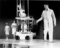 Still from movie Fantastic Voyage.  Alan Paul Wurtzel, moving equipment.