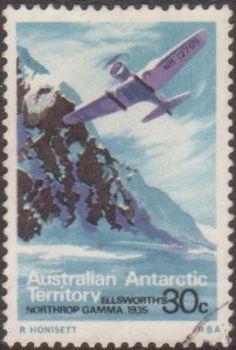 AAT 1973 SG31 30c Northrop Gamma plane FU Listing in the Australian Antarctic Territory,Australia & Territories,Oceania,Stamps Category on eBid Australia