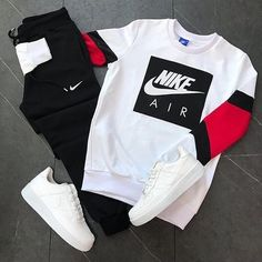 This Nike outfit is definitely number one on the list you need to check them out now. Cute Nike Outfits, Dope Outfits For Guys, Swag Outfits Men, Stylish Mens Outfits, Tomboy Outfits, Cute Comfy Outfits, Sneaker Outfits, Nike Workout Outfits, Teenage Outfits