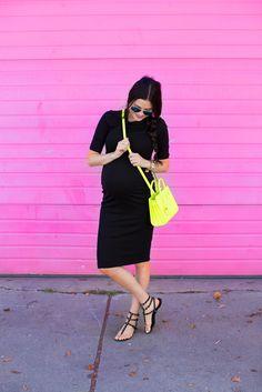 black-maternity-dress