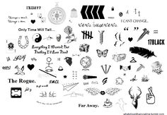 collage tattoos