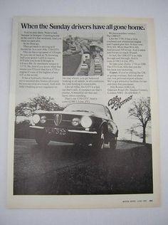 Alfa Romeo 1750 GTV Original Vintage Advert from 1969 - Original Classic Car Advertisement from a period publication.