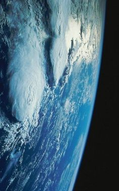 The pale blue dot... Storms on Earth as seen from Space!