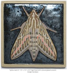 Sphinx Moth mxs Ceramic Art Tile