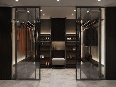 Městský byt na břehu Vltavy | Insidecor - Design jako životní styl Divider, Room, Closet, Furniture, Design, Home Decor, Minimalism, Luxury, Bedroom