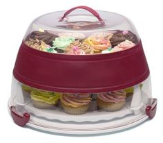 Prepworks from Progressive Collapsible Cupcake and Cake Carrier, Standard Packaging:Amazon:Kitchen & Dining