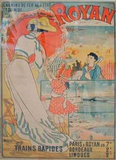 illustration : affiche de tourisme, Royan, plage