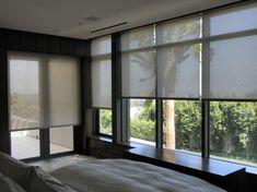 Image result for black roller blinds black window frame