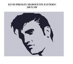 I <3 Elvis!!! PATTERN Elvis Presley Cross Stitch Crochet Knit by YarnHookers, $5.00