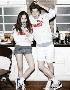 krystal and ahn jae hyun Pop Fashion, Asian Fashion, Daily Fashion, Fashion Trends, Mens Fashion, Ahn Jae Hyun, Krystal Jung, Korean Couple, Fashion Couple
