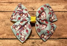 Unicorn Hearts and Ice Cream Bow