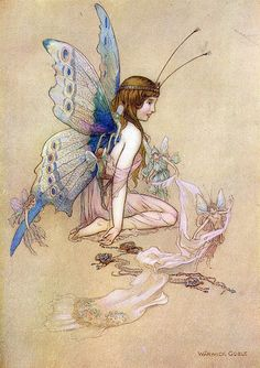 We shall go on for ever and ever, for we are as young as children, yet as old as time, Water Babies, Warwick Goble illustration