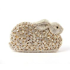 Crystal Bunny Clutch Minaudiere Wedding Purse Luxury Evening Bags ...