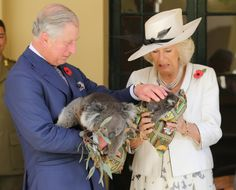 Charles and Camilla with KOALAS omg
