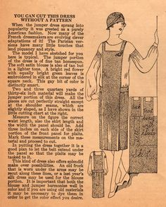 The Me I Saw | Jumper dress sewing tips, 1920s.