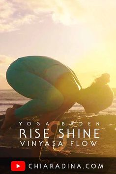 This Vinyasa Flow offers you standing poses, an armbalance (bakasana), an inversion (legs hover in sirsasana), hip- & heartopeners, twists & forwardbends. Start your day with fresh open spaces in just 17 Minutes! #chiaradina #morningflow #vinyasa #flowyoga