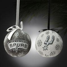 San Antonio Spurs 6 Piece LED Boxed Ornament Set