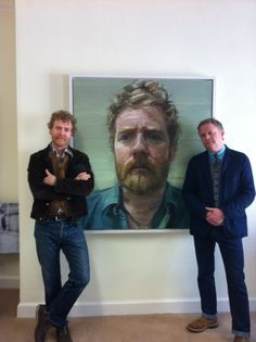 """Glen Hansard:  """"Today I met Artist Colin Davidson and the Portrait he's allowed my use for my record cover, 'Thread the Light'."""""""