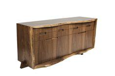 Walnut live edge console  http://www.dirkdenisonarchitects.com/news/2014/1/6/new-dining-sideboard