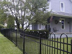 Jerith Style Concord #101 Fence with Pickets Alternating Between Hoops Ornamental Aluminum Fence