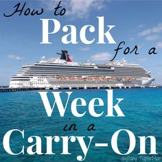 How to Pack for a Week in a Carry-On (in case you're desperately trying NOT to check any luggage on your Disney trip)!