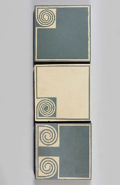Peter Behrens; Glazed Stoneware Tiles for Villeroy & Boch, c1904.