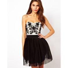 Lipsy VIP Cornelli Bandeau Tutu Dress ($183) ❤ liked on Polyvore