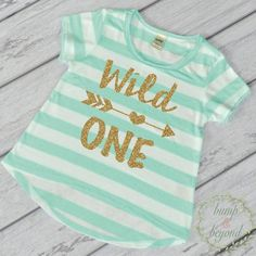Wild One Shirt Wild One 1st Birthday Shirt Girl First Birthday Outfit by BumpAndBeyondDesigns