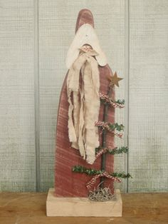 Primitive Santa Holz Santa Primitive Holz Santa von LnMPrimitives