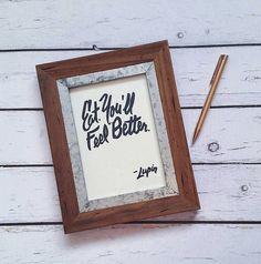 Harry Potter Professor Lupin Quote Poster / Print / Dementors remedy / Eat / Hogwarts Professor / Home Decor