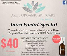 2016 Las Vegas Spas,  Organic Facials.  Azul Organic skincare by Jessica