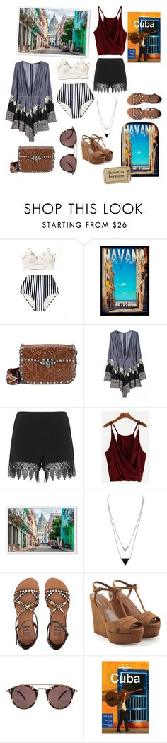 """Pack&go: Cuba"" by r-bye ❤ liked on Polyvore featuring Valentino, WithChic, JunaRose, House of Harlow 1960, Billabong, Sergio Rossi, Oliver Peoples and Lonely Planet"
