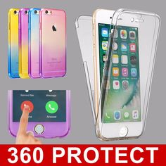 #Shockproof 360° silicone protective clear case cover for #apple #iphone 7 6s pl,  View more on the LINK: 	http://www.zeppy.io/product/gb/2/191988176883/
