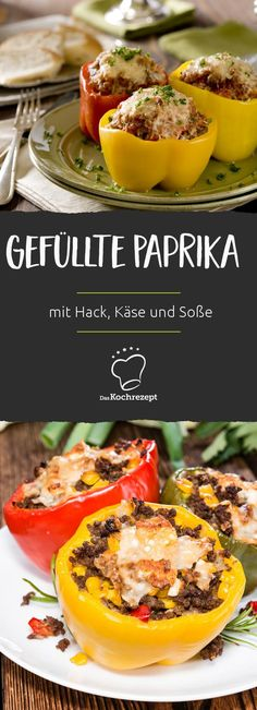 Gefüllte Paprika mit Hackfleich sind schnell gemacht, einfach und schmecken auch Kindern – die perfekte Geheimzutat ist Feta, die dieses Rezept so gut macht. Dazu kannst du noch eine leckere Soße servieren…