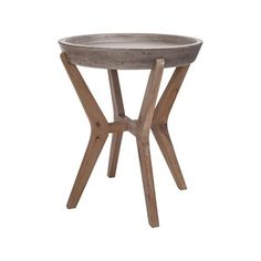 Guild Master 157-034 Tonga Side Table Waxed Concrete,Silver Brushed Woodtone. The Tonga Collection side table is hand made using acacia wood and concrete.Dimensions (inches): 21.7H, 18.1W, L