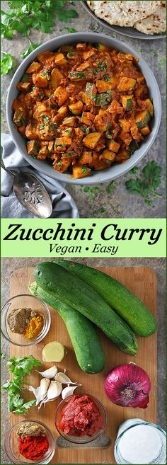 Vegan Zucchini Curry With 11 Ingredients -  Pinterest Image