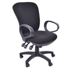 Mordern Ergonomic Mid-Back Executive Computer Desk Task Office Chair Black