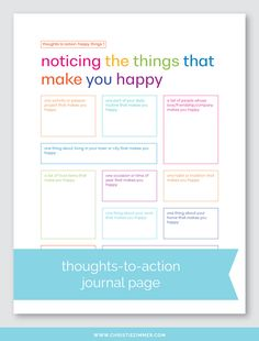 This is my first set in this series, so of course I started with happy things. From noticing the things that make you happy to understanding them to doing them more often, each page in this set is designed to help you transform your thoughts into action. Counseling Activities, Art Therapy Activities, School Counseling, Bujo, Therapy Worksheets, Journal Writing Prompts, Coping Skills, Social Skills, Life Skills