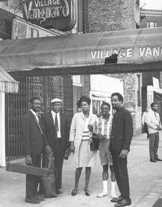 John Coltrane, Pharoah Sanders, Jimmy Garrison, Rashied Ali and Alice Coltrane at the Village Vanguard, NYC, 1966