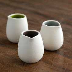 Mini Creamer in color of your choice by PigeonToeCeramics on Etsy, $20.00. These are so darling! Such a perfect shape...