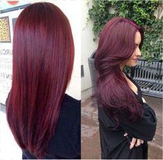 KNETTER VET!…Burgundy…Bordeaux rode Haar KLeur! Om Gek van te Worden z'on ontzettende mooie warme kleur!