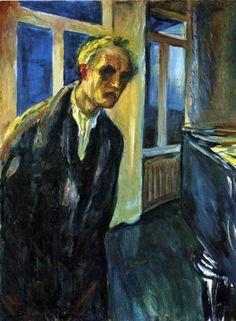 Self-Portrait. The Night Wanderer, Edvard Munch