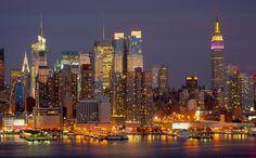 Dusk In Manhattan, via Flickr.