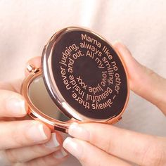 Personalised Rose Gold Compact Mirror New Photo Style, Compact Mirror, Rose Gold, My Love