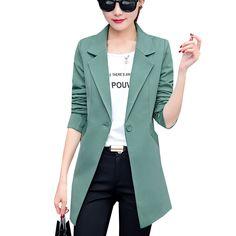 New Autumn Fashion Women Blazer Jacket Slim Fit WorkWear Suit Coat Ladies Casual OL Office Long Blazers Plus Size Outwear SF361-in Blazers from Women's Clothing & Accessories on Aliexpress.com | Alibaba Group